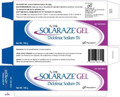solaraze & Treatment of Solar Keratosis